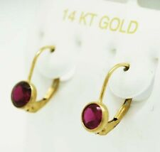 RUBY 1.48 Cts EARRINGS 14K YELLOW GOLD * New With Tag * FREE SHIPPING