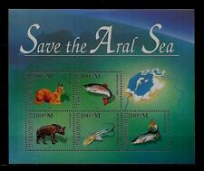 TURKMENISTAN Sc 52 NH SOUVENIR SHEET of 1996 - ANIMALS OF ARAL SEA