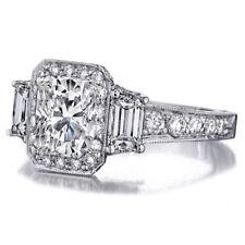 Radiant Cut Diamond 18k Gold 3.50 Carat Engagement Ring GIA Certified