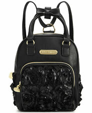 NWT Betsey Johnson Black Flowers Convertible Backpack - SOLD OUT EVERYWHERE !!