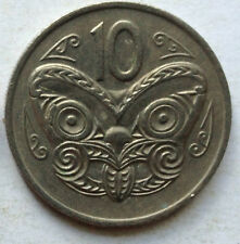 New Zealand 10 cents 1977 coin