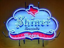 "New Shiner Specialty Texas Lamp Open Beer Neon Light Sign 24""X20"""