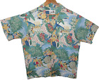 Vintage Aloha Shirt House of Uniforms Eugene Savage Matson Medium Fair condition