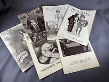 LOT of 6 Vintage PLAYBILLS from 1930s New York City Broadway a471