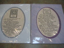 """2 New Calligraphy Saying with 8 X 10 Mat """" Hugs"""" & """"Woman Was Made"""" to frame"""