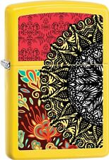 Zippo 2015 Catalog Eclectic Fusion With Lemon Matte Finish Lighter 28850 *NEW*