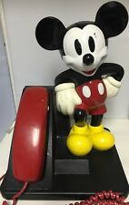 Vintage Retro Disney Mickey Mouse Push Button Telephone by AT&T
