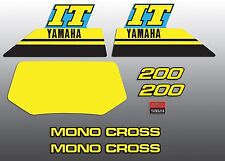 YAMAHA 1986 IT200 IT 200 DECAL GRAPHIC KIT LIKE NOS