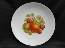 "Bareuther BTH4 Fruit: Plate with Pears and Gooseberries 1/16"" Gold Trim, 7 3/4"""