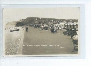 2nd Real photo postcard of the promenade West bay nr Bridport Dorset Potts photo