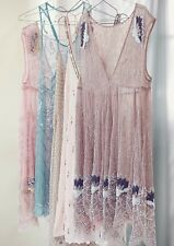 FREE PEOPLE Deep Sleep Slip Beaded Dress M NWOT