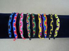 20 Lot Friendship Bracelet Peru Hand Made Jewelry Pack, Fundraising, Wholesale