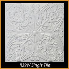 Ceiling Tiles Glue Up Styrofoam 20x20 R39 White Pack of 8