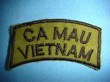 NAM WAR SUBDUED TAB PATCH CA MAU VIETNAM