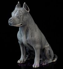 Staffordshire Pit Bull Terrier Marble Figurine Russian Art Stone Dog Sculpture