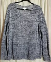 Women's size XXL OLD NAVY blue white open knit sweater