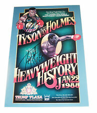 IRON MIKE TYSON & LARRY HOLMES SIGNED 18X12 POSTER W/PROOF