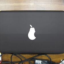 2 Stück Birne weiß Apple verarsche Computer Laptop Auto Aufkleber Tattoo Folie
