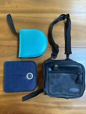 3 CD Travel Wallet Cases + Discman Carry Case w/Strap. Store 50+ CDs for Travel!