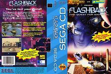 Flashback: The Quest for Identity CUSTOM SEGA CD CASE (NO GAME)