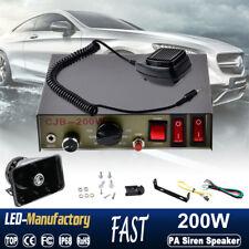 200W 8 Sound Car Loud Speaker PA Horn Siren MIC System Kit Police Alarm Fire 12V
