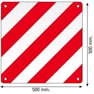 Pannello bianco rosso in alluminio traforato antitaglio per carichi sporgenti