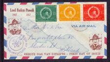 Nederlands Antillen FDC 1957, voorloper, beschreven en open klep, zie scan .