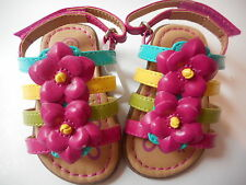 Genuine Baby Sandals Flowers Multi-Color Infant Girl Size 2 NWT