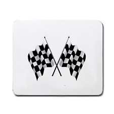 CHEQUERED FLAG RACING FLAG LARGE MOUSEPAD **SUPER ITEM**