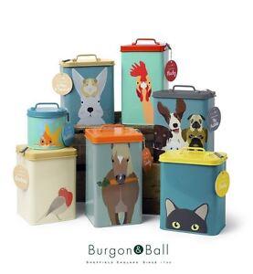 Burgon & Ball Creaturewares Pet Food Storage Tin Dog, Cat, Fish, Rabbit or Bird