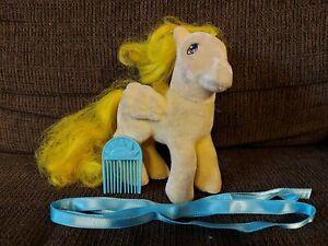 Vintage My Little Pony MLP G1 So Soft SS Pegasus Lofty Flocked 1986