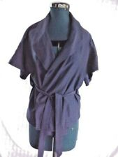 Sussan Sz 8 purpley-blue short sleeved wrap tie top, like new-worn once, soft