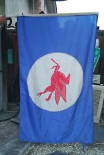 New listing Vintage Original 50's ? Mobil Pegasus Gas And Oil Banner- Sign -Flag 52'' x 35''