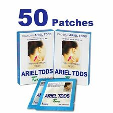50 Patches ARIEL TDDS Anti Travel/Motion Sickness Car,Boat,Air Nausea Bulk