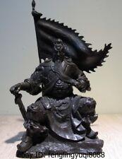 Chinese Art Deco Bronze Copper Dragon Guan Gong Guan Yu Statue Buddha Sculpture