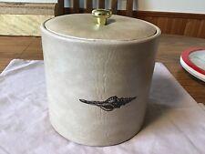 Vintage Vinyl Ice Bucket Bar Ware Made In USA. Sea Shell Imprint.