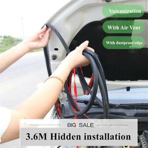 3.6m Car Hood Edge Seal Strip Bumper Weatherstrip Sound Insulation W/ Air Vent