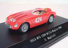 Starline Models 1/43 Osca MT4 1500 Mille Miglis 1956 in Plexi - Box #1862