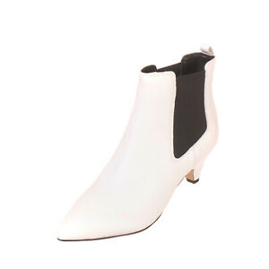 RRP €140 SAM EDELMAN Leather Chelsea Boots Size 37 UK 5 US 7 Heel Two Tone