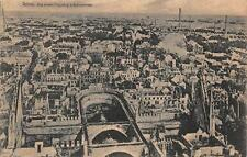 Reims France Aerial View Ww1 Military Feldpost Postcard 1915