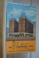 C 1947 The Andrews Hotel Hennepin & 4th Minneapolis Minnesota Linen Postcard