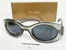 GUCCI 2430 Gray Green Trasparent Glamour occhiali sole sunglasses New Original