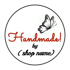 """PERSONALIZED HANDMADE BUTTERFLY STICKER LABEL ENVELOPE SEAL 1.2"""" OR 1.5"""" ROUND"""