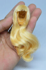KUMIK  1/6 Blonde Long Hair Wig Props Model Fit for 1:6 Female Body Toy