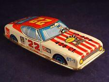 Ancien jouet rare voiture de course tôle GT-1 Coca cola Racing oil Champion 1960