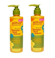 Pack of 2 Alba Botanica Hawaiian Facial Cleanser, Pineapple Enzyme 8 oz