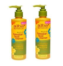 Pack of 2 Alba Botanica Hawaiian Facial Cleanser, Pineapple Enzyme 8 oz