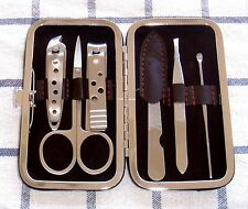 Brand New Luxury Stainless Steel Nail Clipper Manicure Set Kit 6 Pieces