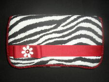 Red & Zebra Stripes Baby Wipes Case