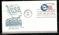 US SC # UXC8 Visit The USA .Postal Card FDC. Artmaster Cachet